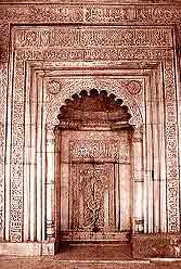 Delhi Sultan Garhi carvings on the doors and niches