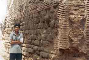 Ayodhya Wall of a mosque situated at Ram ki Pauri having calcrete stones and bricks