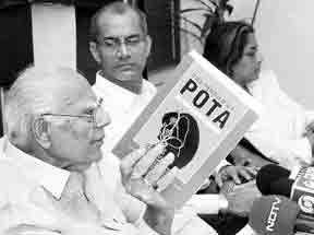 Ram Jethmalani  releasing The Terror of POTA