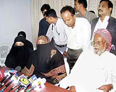 Hyderabad Muslims protesting against police excesses