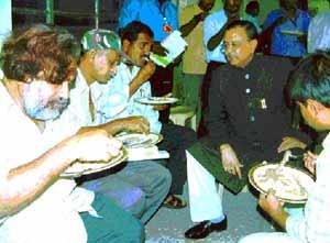 Naxalite leaders with Siasat editor Zahid Ali Khan