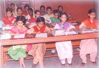 Calcutta Muslim Orphanage girl inmates studying