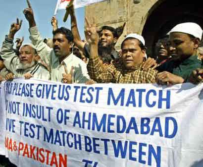 Muslims in Ahmedabad urge Pakistan to play in their city