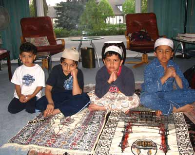 Young good samaritans:(from left to right) Sabir (4 years), Mohammad (7), Yusof (8) and Bilal (9)