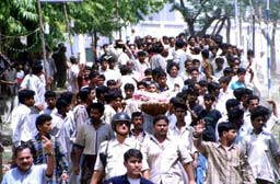 Funeral procession of Naeemuddin killed by cops