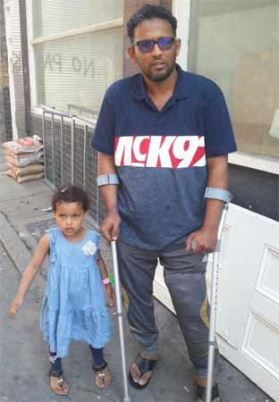 Waleed Saleem with his daughter