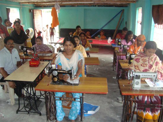 A glimpse of the vocational traning centre at Murshidabad