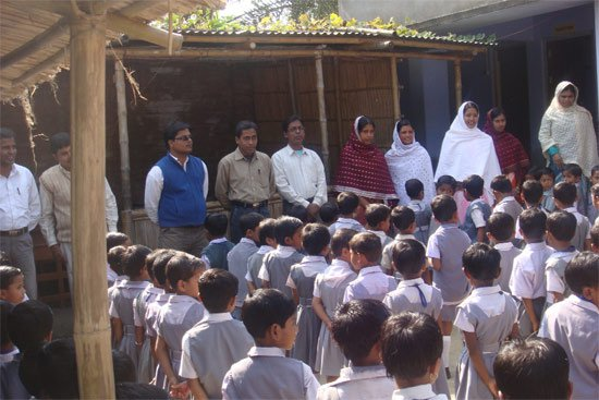 Alliance school Murshidabad during a morning assembly