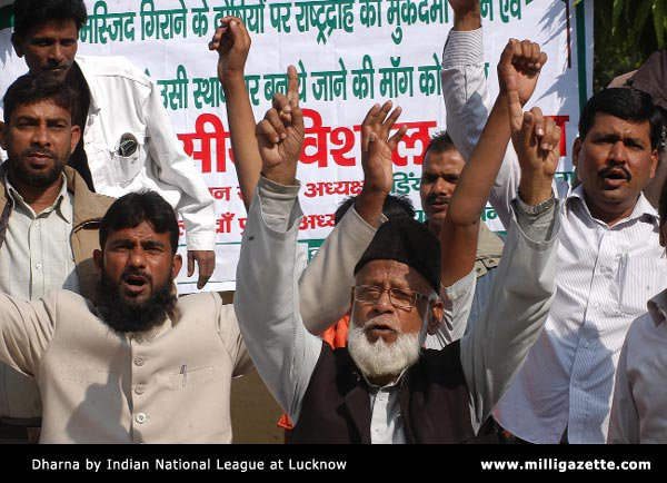 Dharna by Indian National League at Lucknow